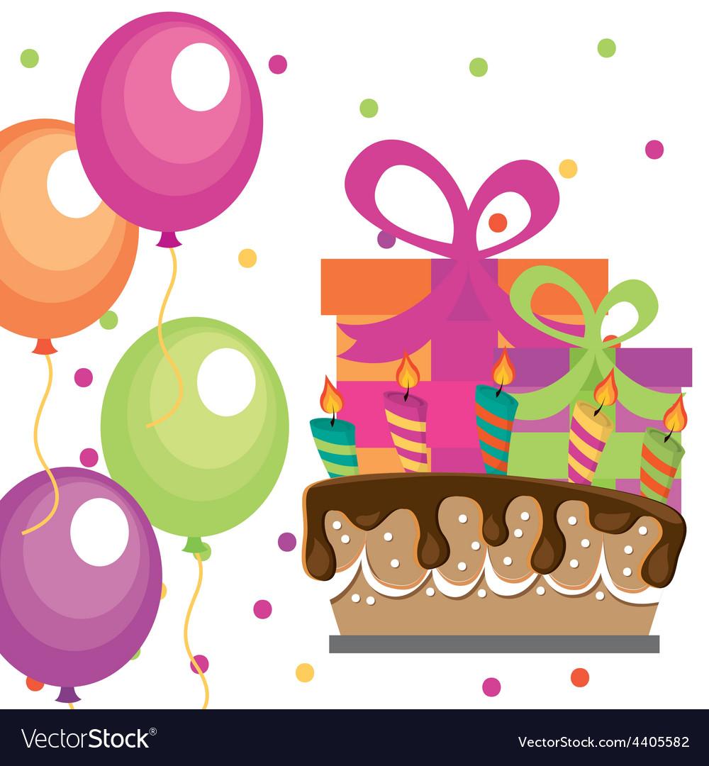 Birthday party vector | Price: 1 Credit (USD $1)