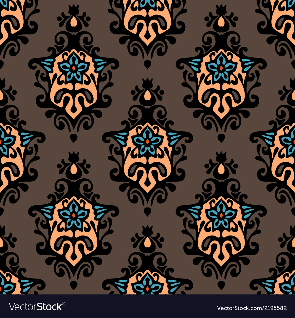 Damask floral design vector | Price: 1 Credit (USD $1)