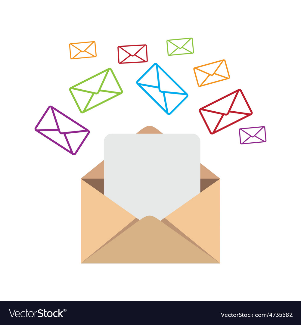 Email design vector | Price: 1 Credit (USD $1)