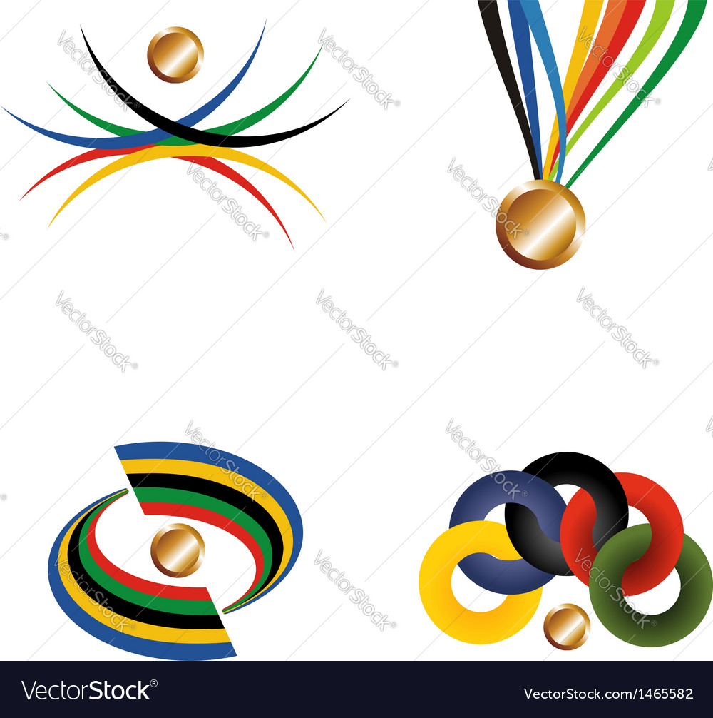 Gold medal with ribbon file layered for easy vector | Price: 1 Credit (USD $1)