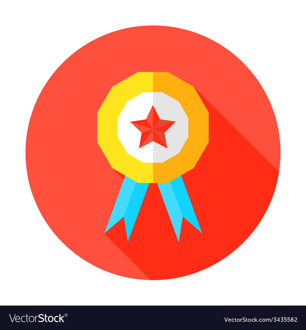 Grade a or above flat circle icon vector   Price: 1 Credit (USD $1)