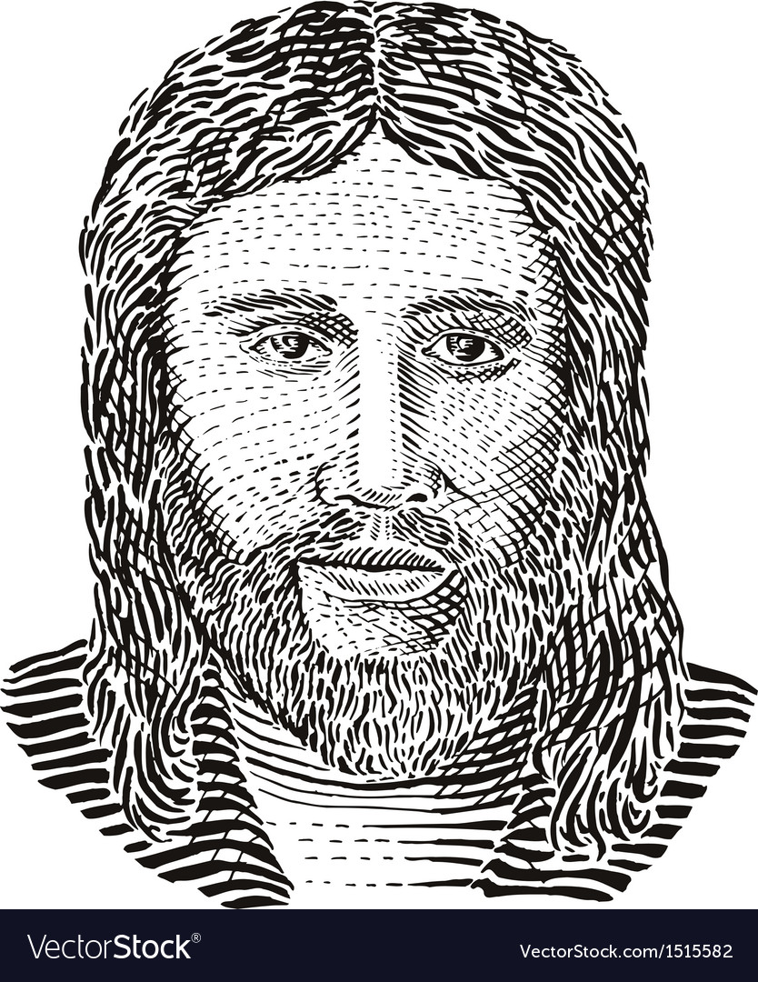 Jesus christ front view vector | Price: 1 Credit (USD $1)