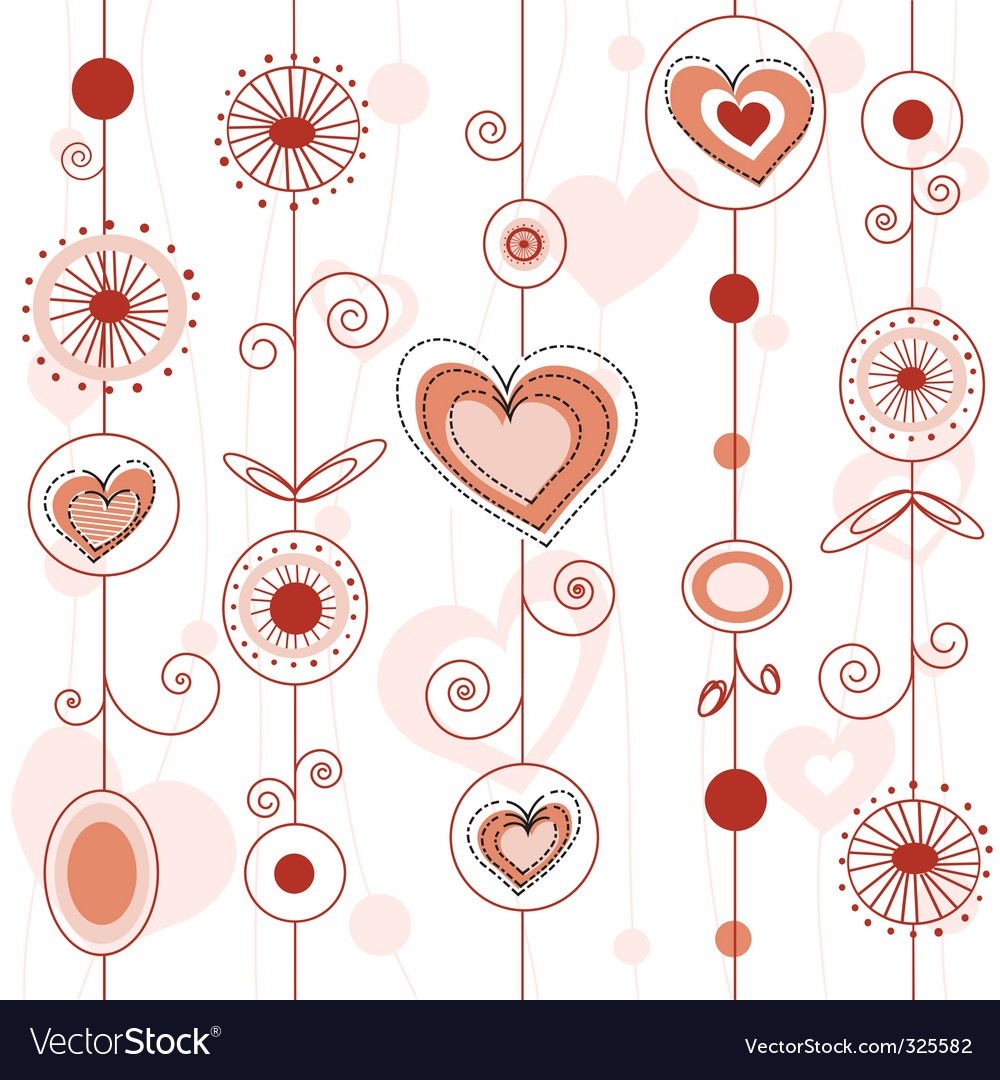 Love concept pattern vector | Price: 1 Credit (USD $1)