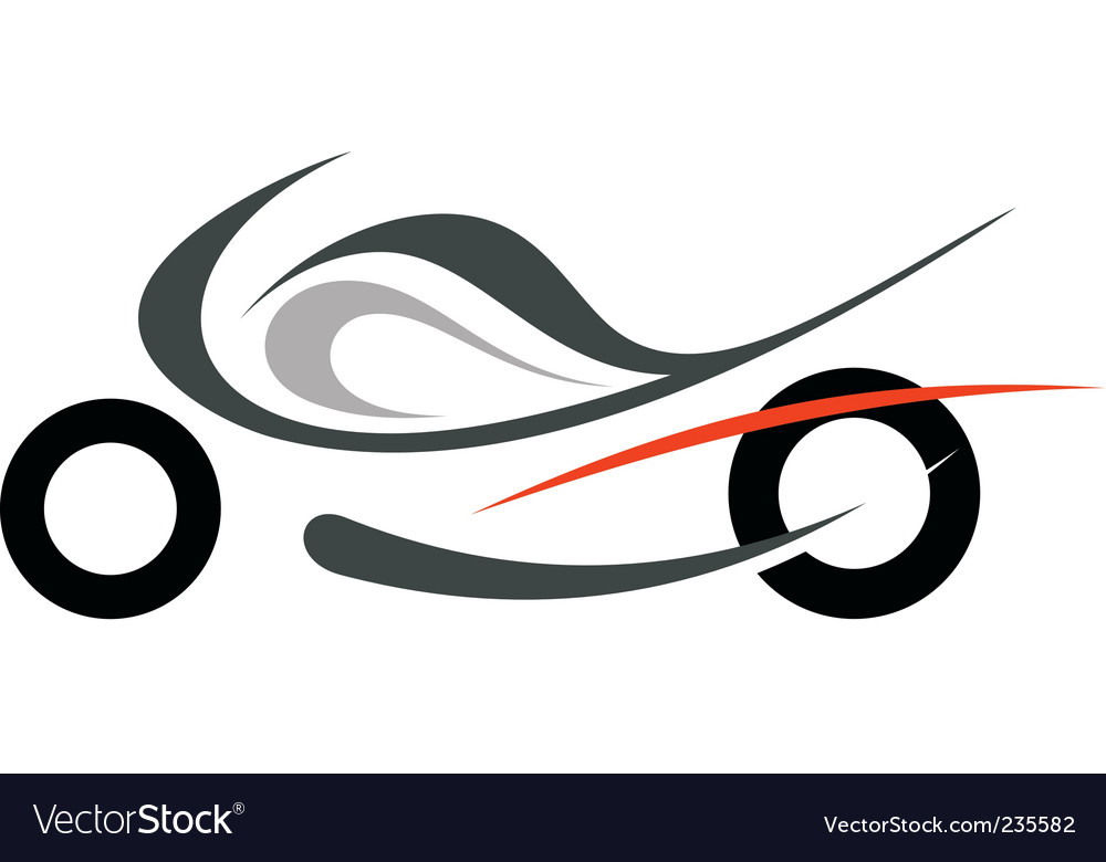 Motorcycle sportbike vector