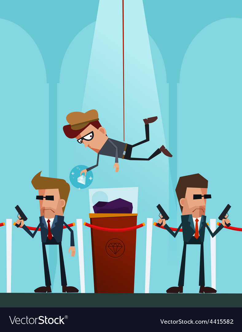 Professional thief in action vector | Price: 3 Credit (USD $3)