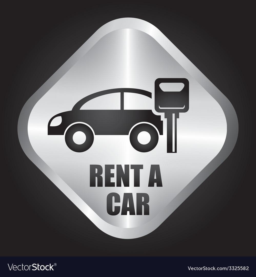 Rent car design vector | Price: 1 Credit (USD $1)