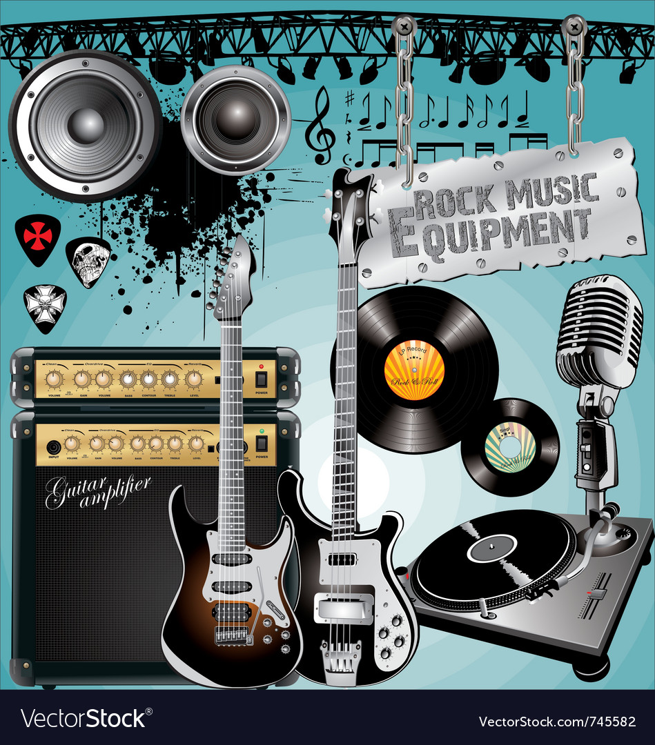 Rock music equipment vector | Price: 1 Credit (USD $1)