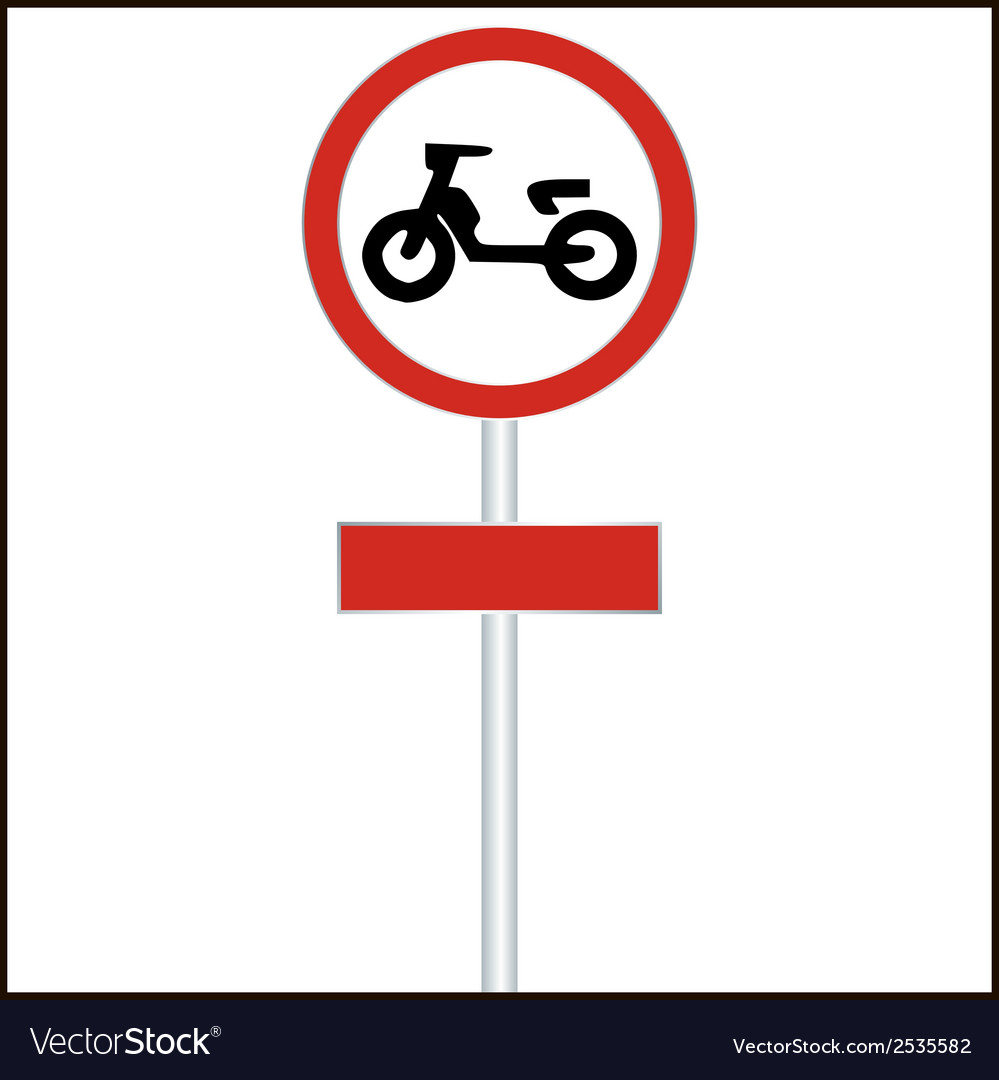Traffic sign forbidden entrance moped - vector | Price: 1 Credit (USD $1)