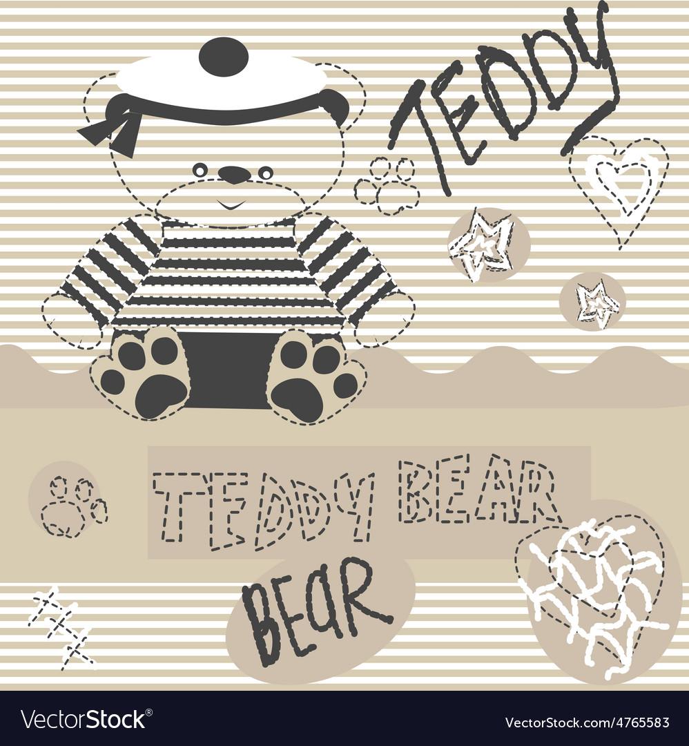 0515 6 teddy bear v vector | Price: 1 Credit (USD $1)