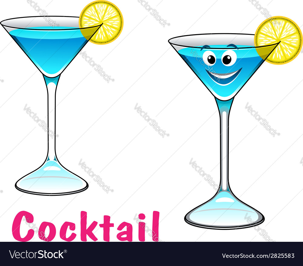 Cartoon cocktail character vector | Price: 1 Credit (USD $1)