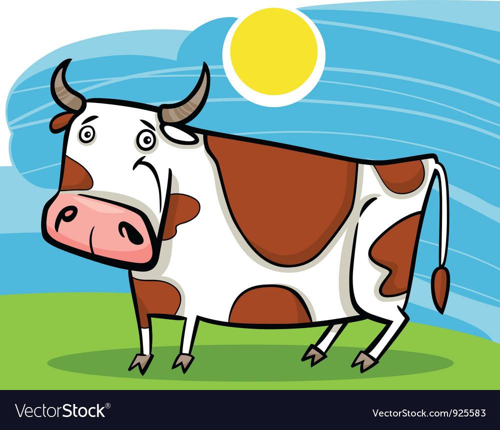 Cartoon of farm cow vector | Price: 1 Credit (USD $1)