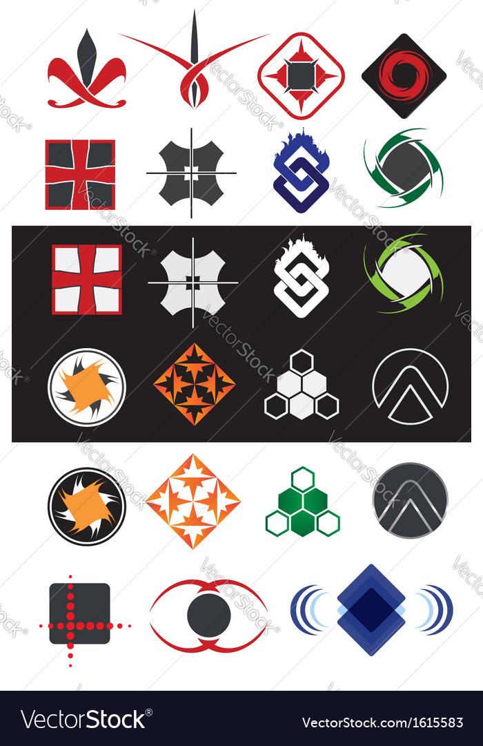 Creative symbols design elements collection vector   Price: 1 Credit (USD $1)