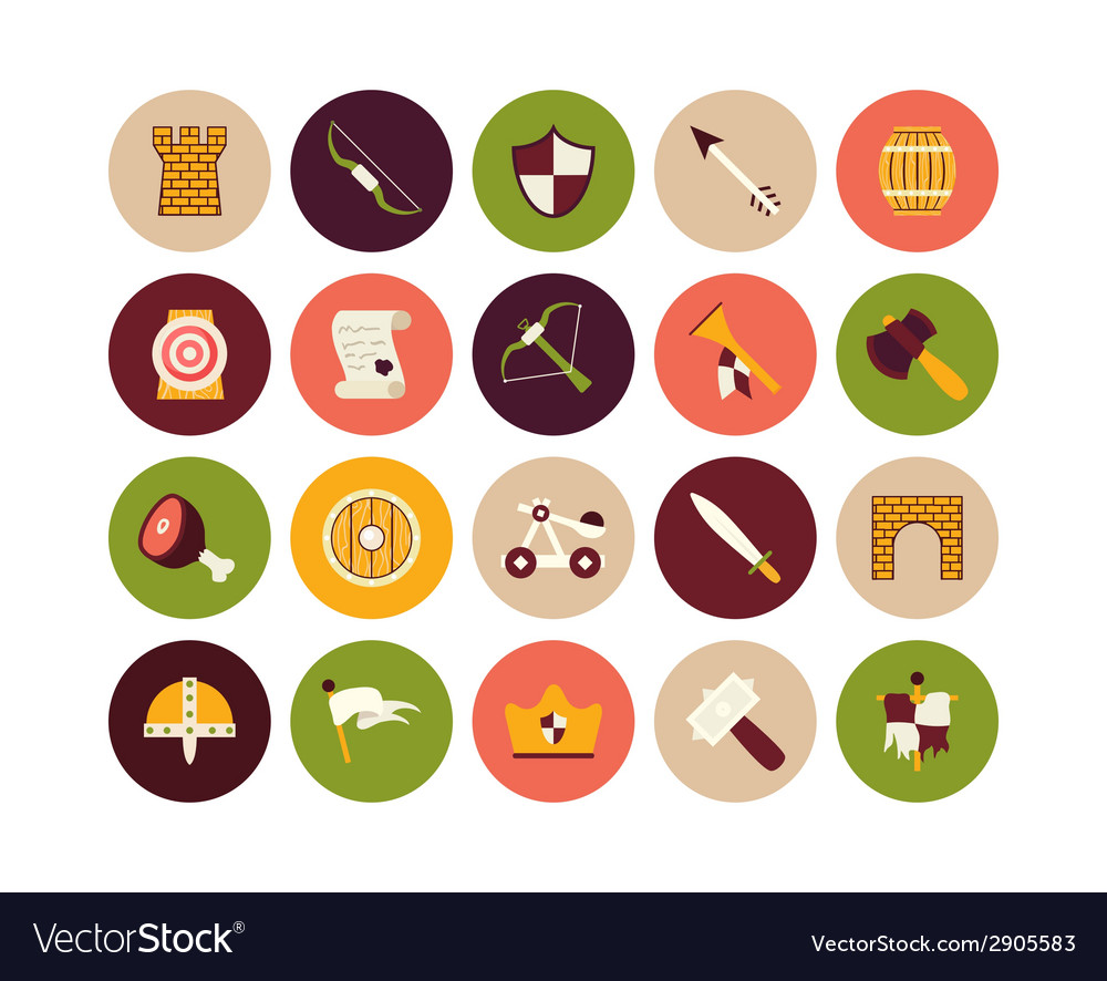 Flat icons set 30 vector | Price: 1 Credit (USD $1)