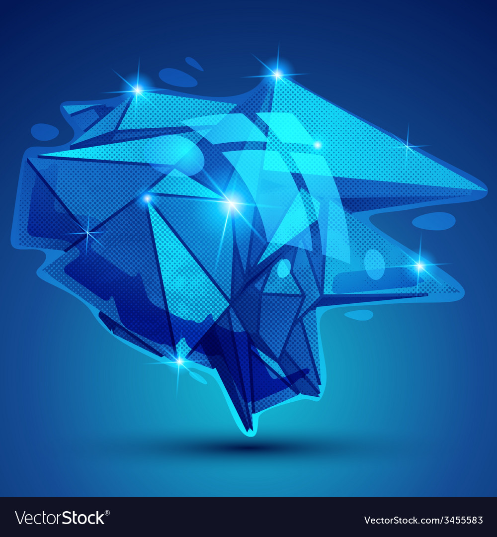 Futuristic object with sparkling effect vector | Price: 1 Credit (USD $1)