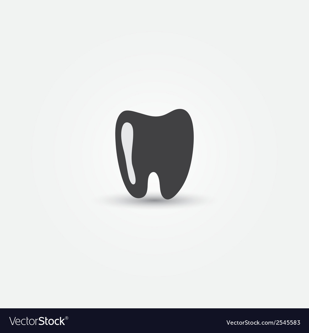 Minimal tooth icon vector | Price: 1 Credit (USD $1)