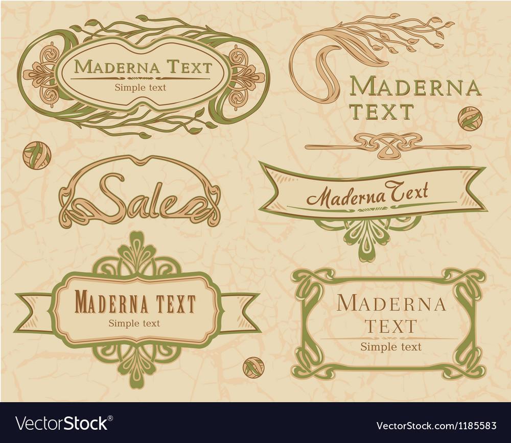 Modern vintage items set vector | Price: 1 Credit (USD $1)