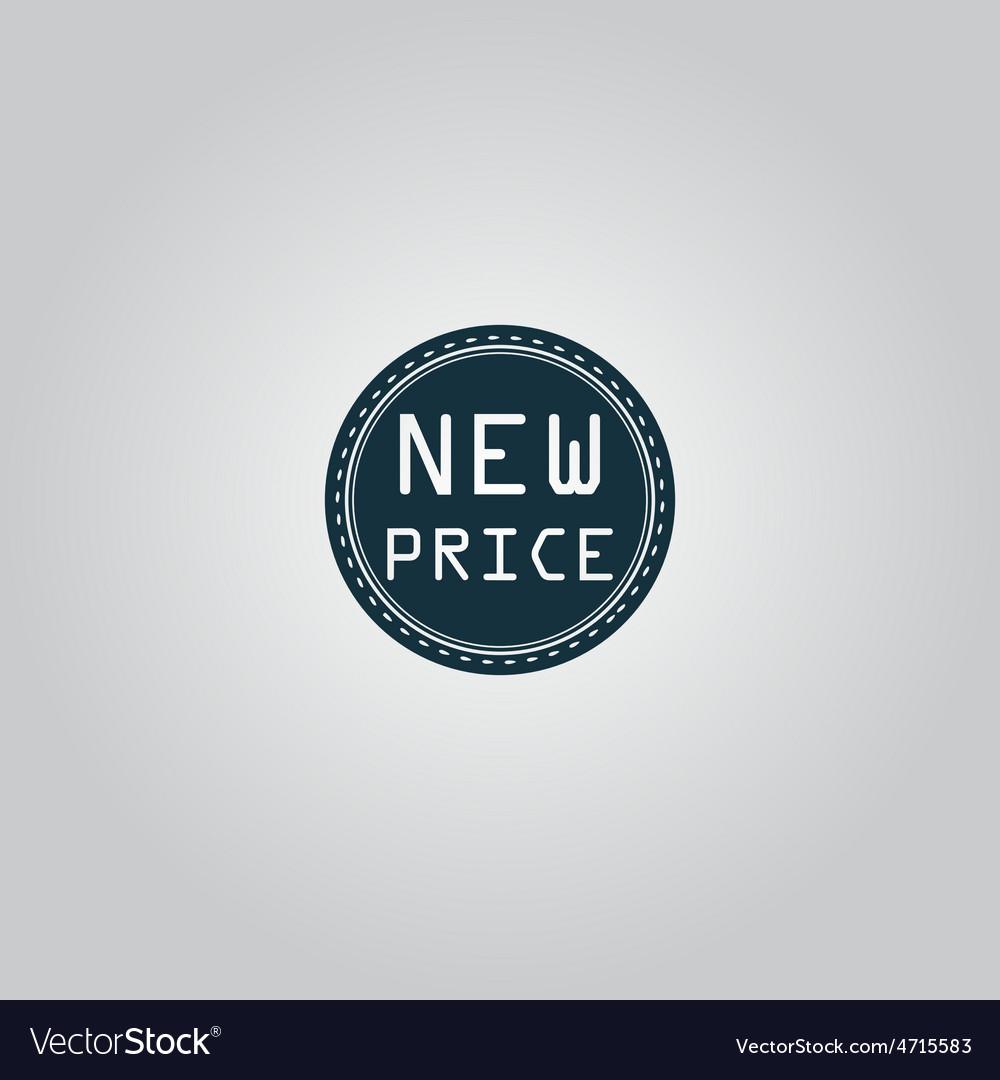 New price icon badge label or sticker vector | Price: 1 Credit (USD $1)