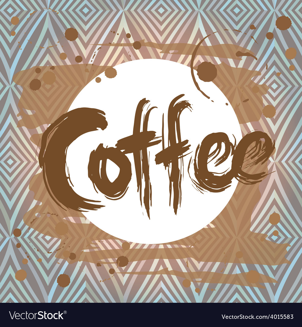 Poster with coffee stain design template vector | Price: 1 Credit (USD $1)