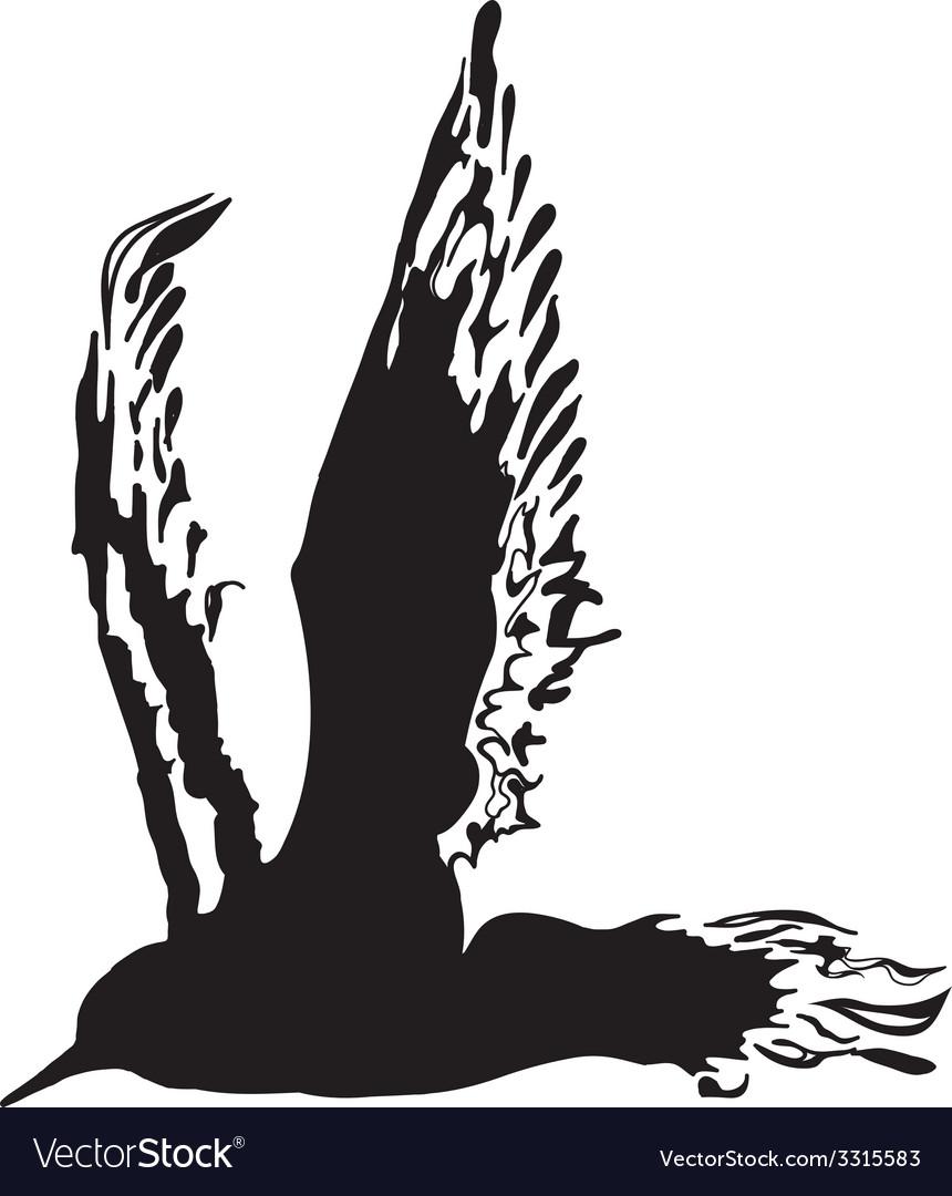Silhouette bird vector | Price: 1 Credit (USD $1)