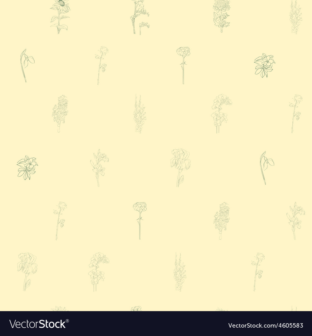 Sparse pattern with flowers vector | Price: 1 Credit (USD $1)