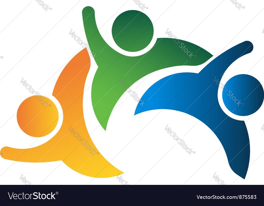 Three people teamwork vector | Price: 1 Credit (USD $1)