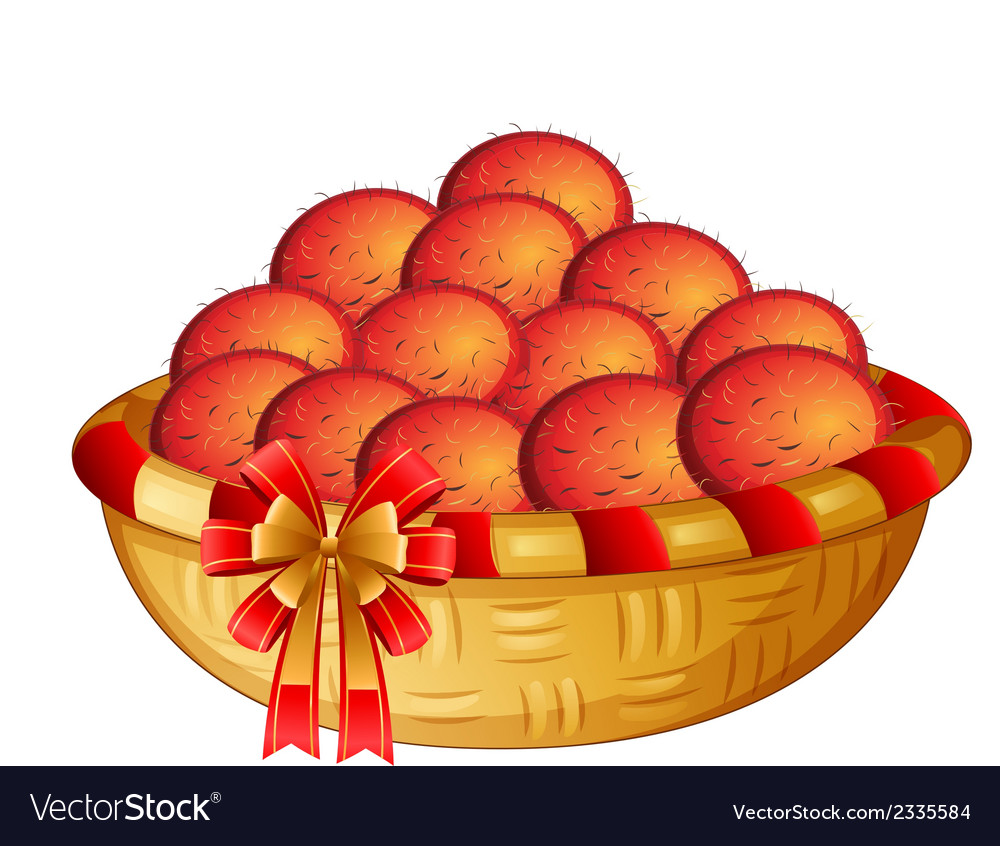 A basket of fruits vector | Price: 1 Credit (USD $1)