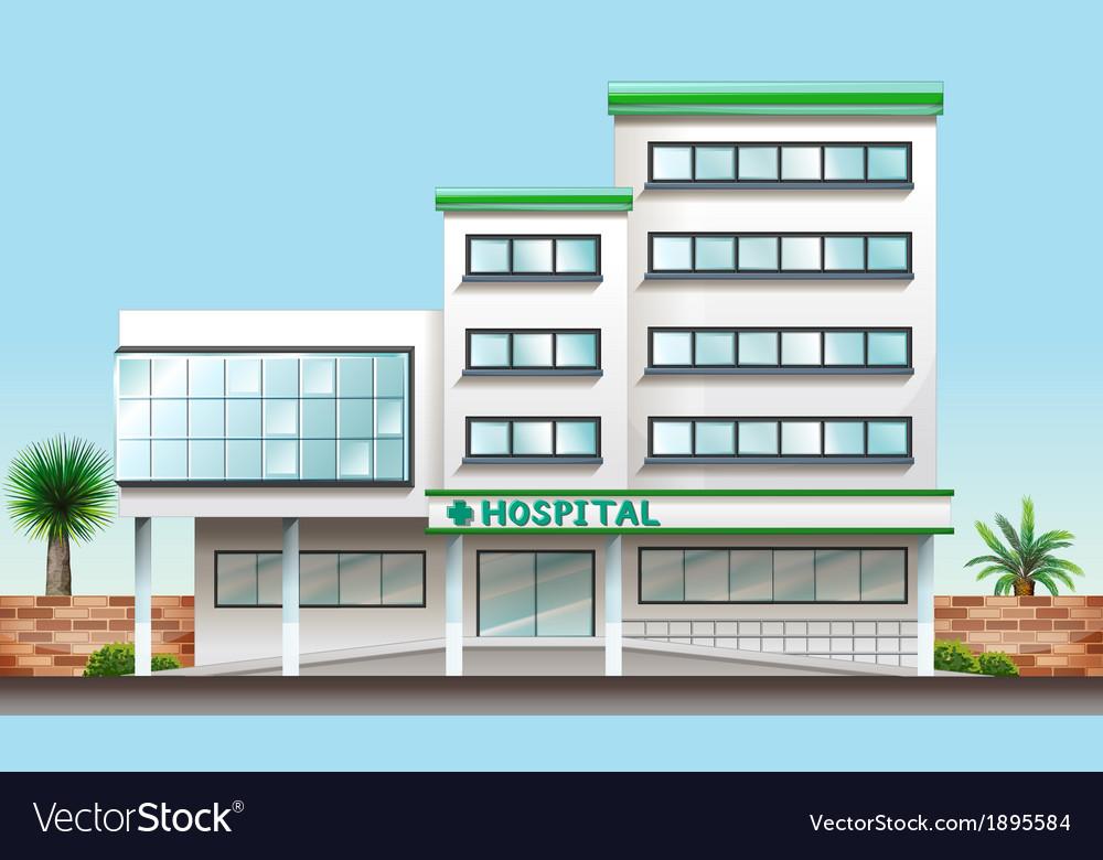 A hospital building vector