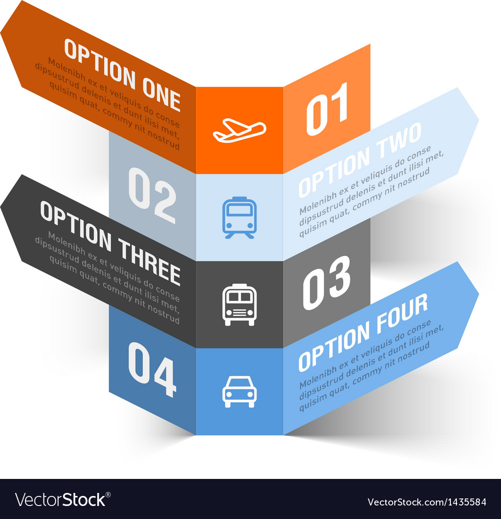 Abstract travel theme infographics template vector | Price: 1 Credit (USD $1)