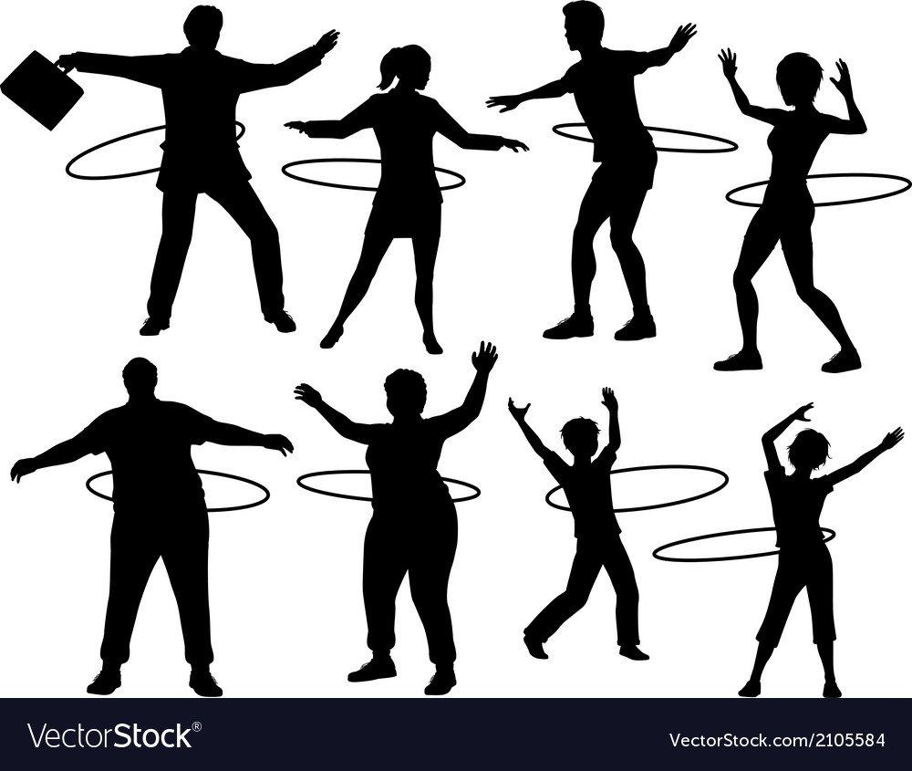 Hula hoop people vector | Price: 1 Credit (USD $1)