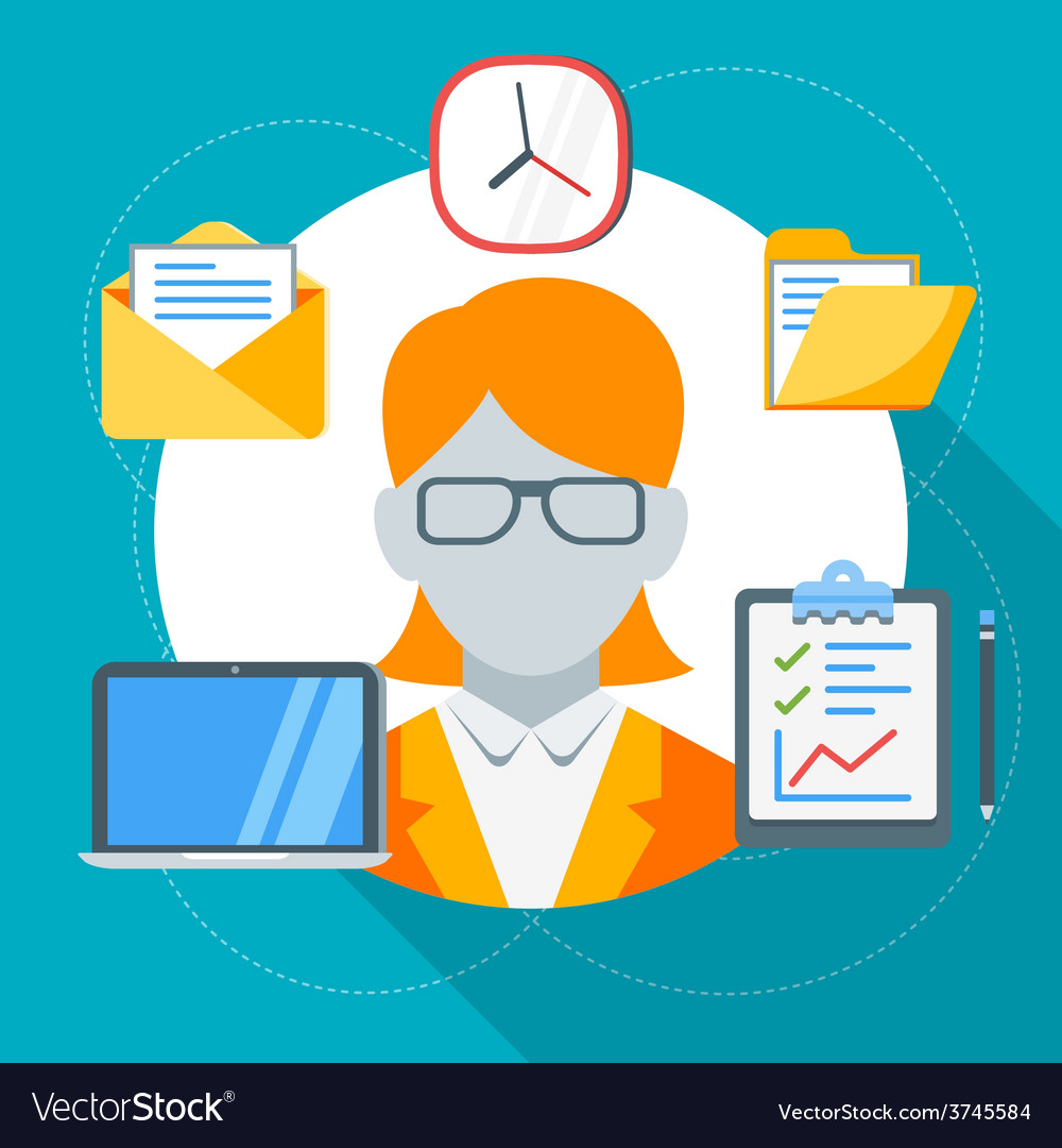 Human resource management concept in flat d vector   Price: 1 Credit (USD $1)