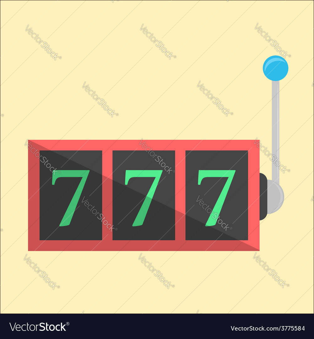Jackpot icon in flat style vector | Price: 1 Credit (USD $1)