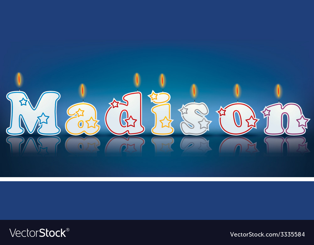 Madison written with burning candles vector | Price: 1 Credit (USD $1)