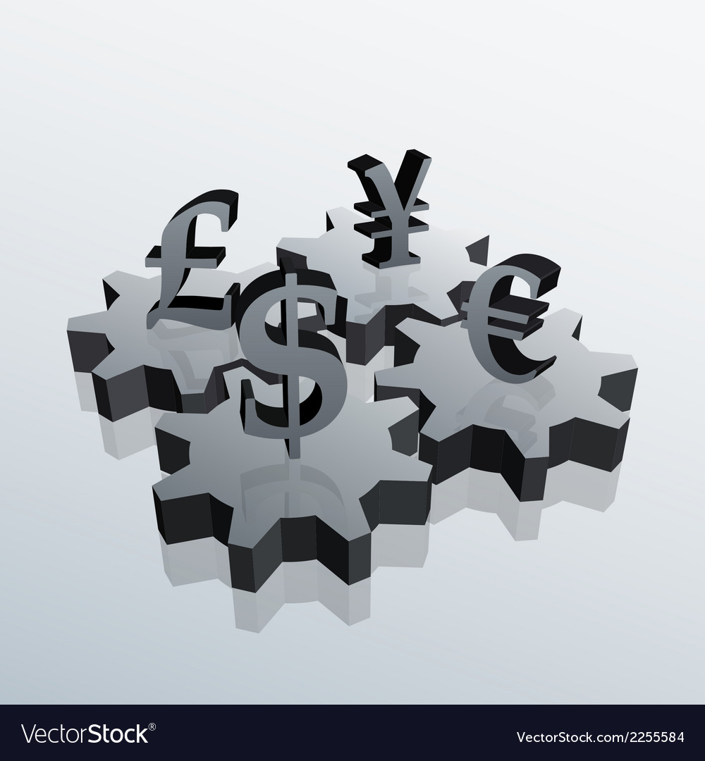 Money gears 2 vector | Price: 1 Credit (USD $1)