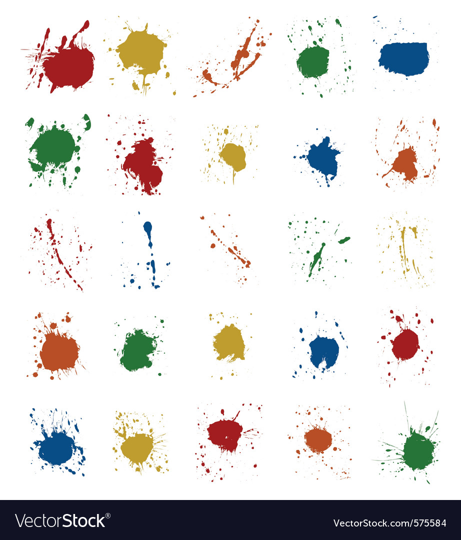 Paint splatter vector