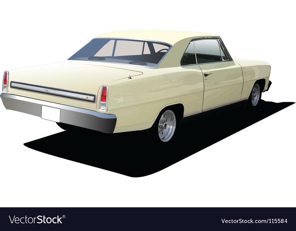 Retro car vector | Price: 1 Credit (USD $1)