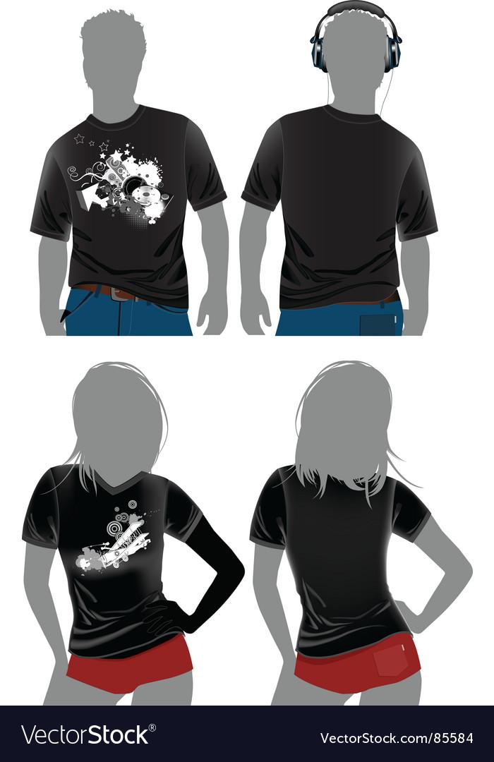 T-shirt design templates vector | Price: 1 Credit (USD $1)
