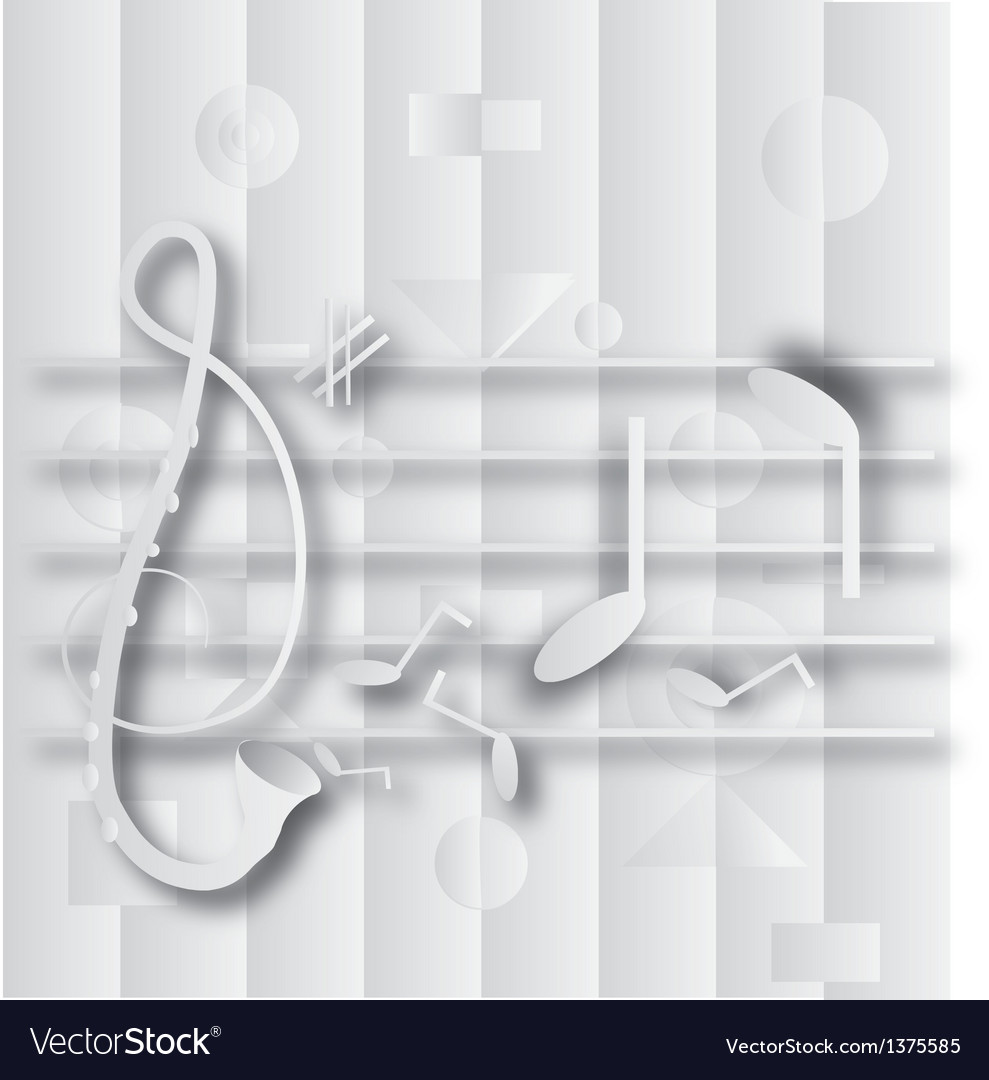 Abstract g clef and note music vector | Price: 1 Credit (USD $1)