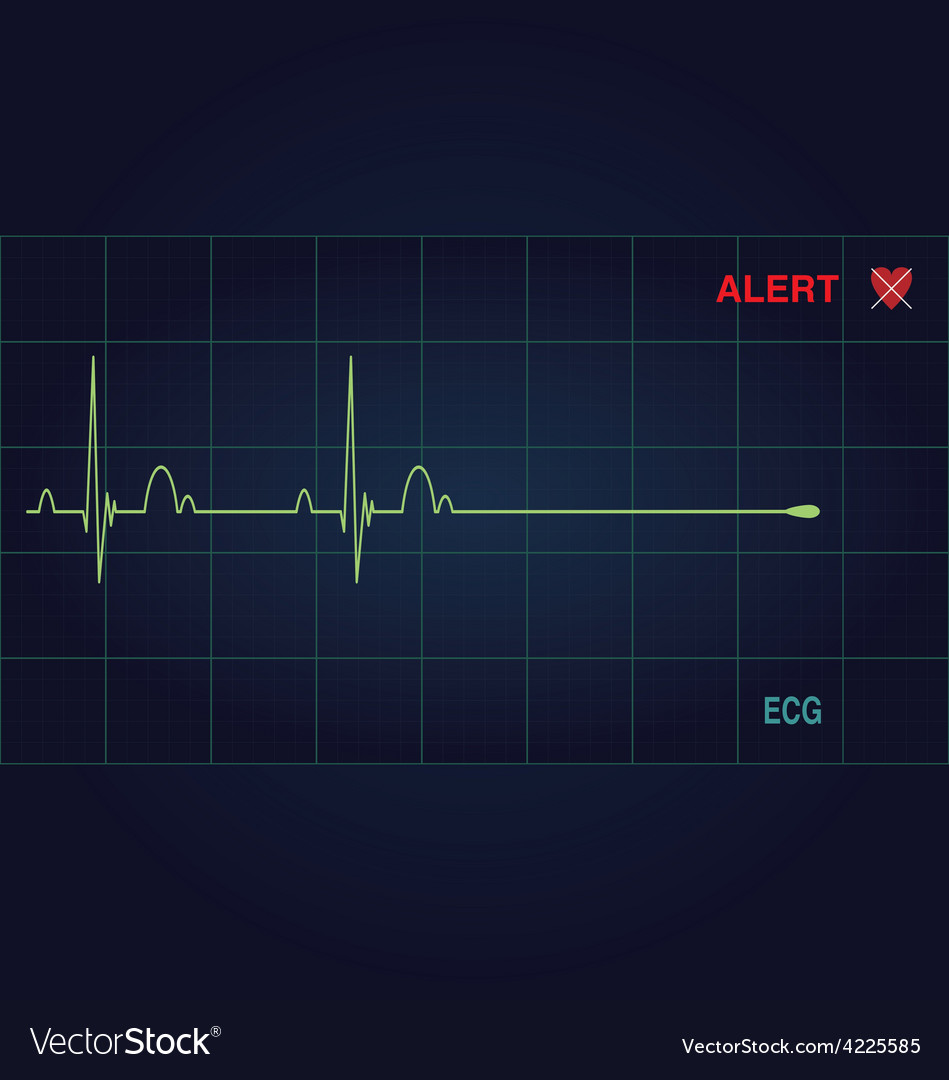 Alert heart vector | Price: 1 Credit (USD $1)