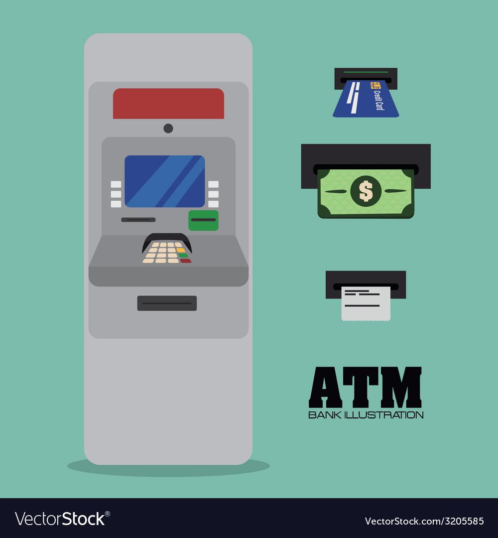 Atm design vector | Price: 1 Credit (USD $1)