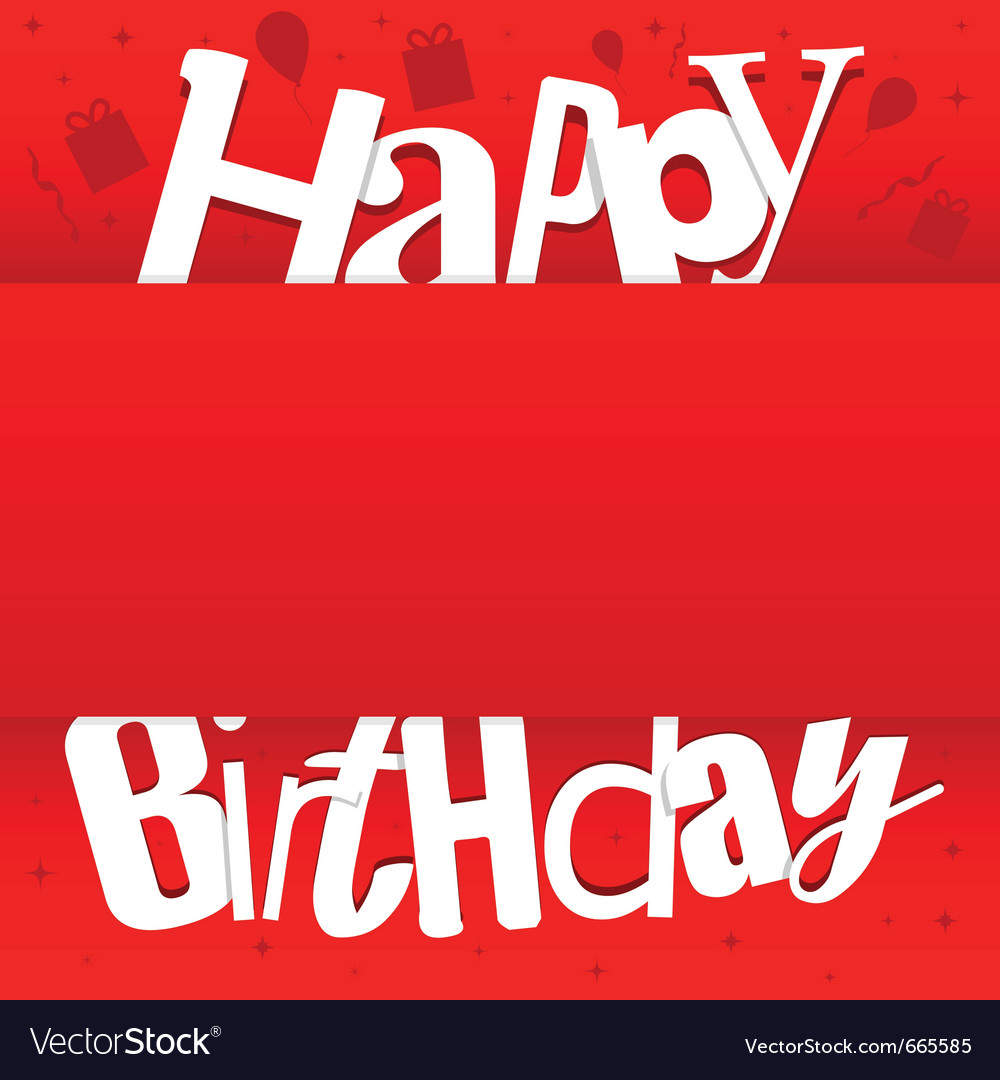 For happy birthday card vector | Price: 1 Credit (USD $1)