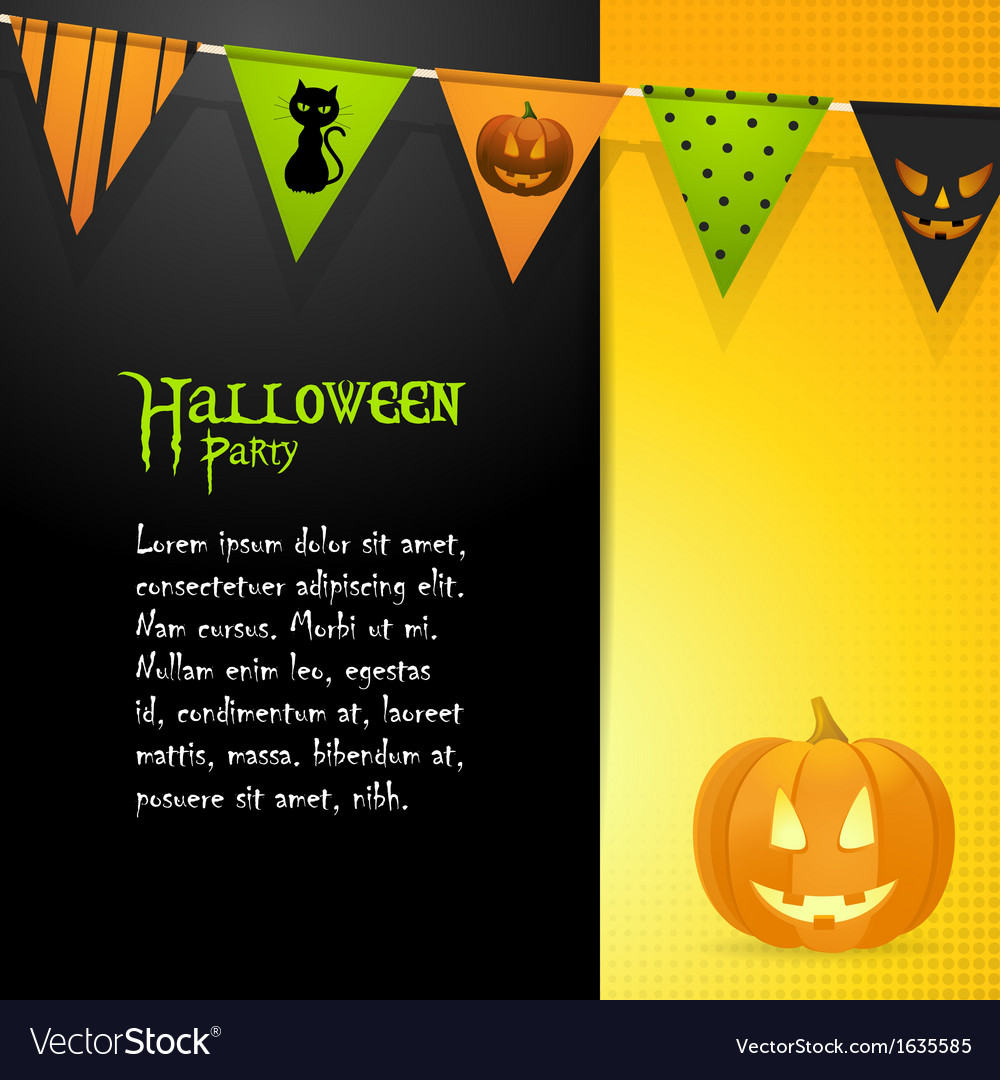 Halloween pumpkin panel background vector | Price: 1 Credit (USD $1)
