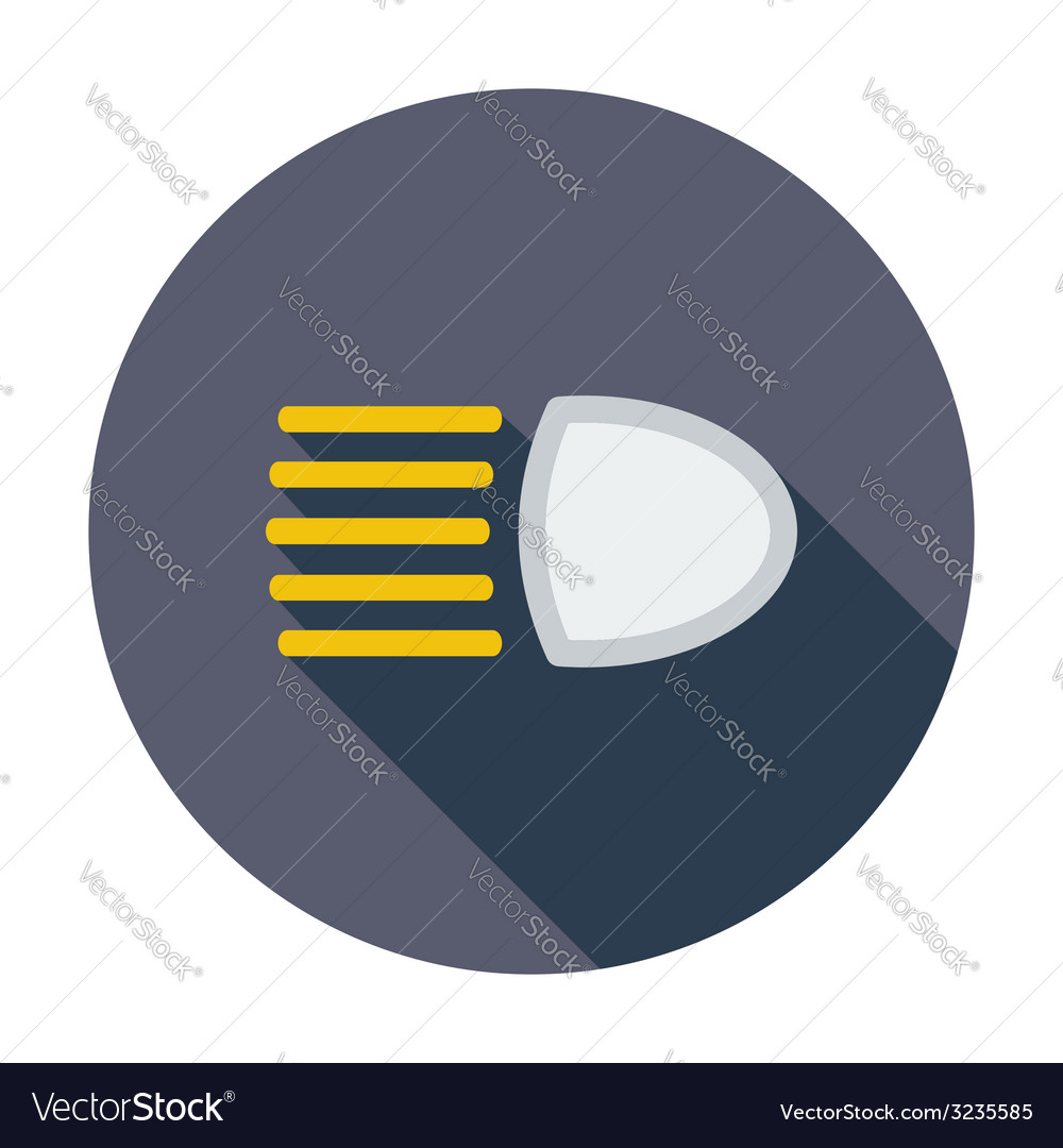 Headlight icon vector | Price: 1 Credit (USD $1)