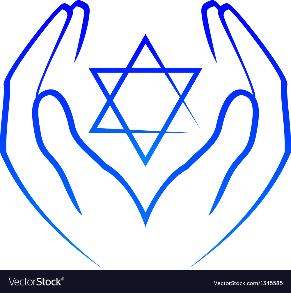 Icon - hands holdin star of david vector | Price: 1 Credit (USD $1)