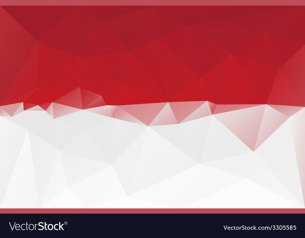 Indonesian flag vector | Price: 1 Credit (USD $1)