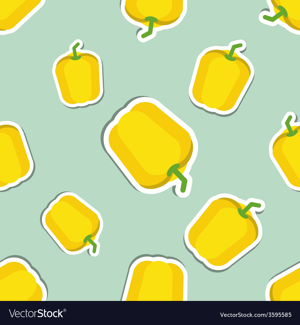 Paprika pattern seamless texture with ripe sweet vector | Price: 1 Credit (USD $1)