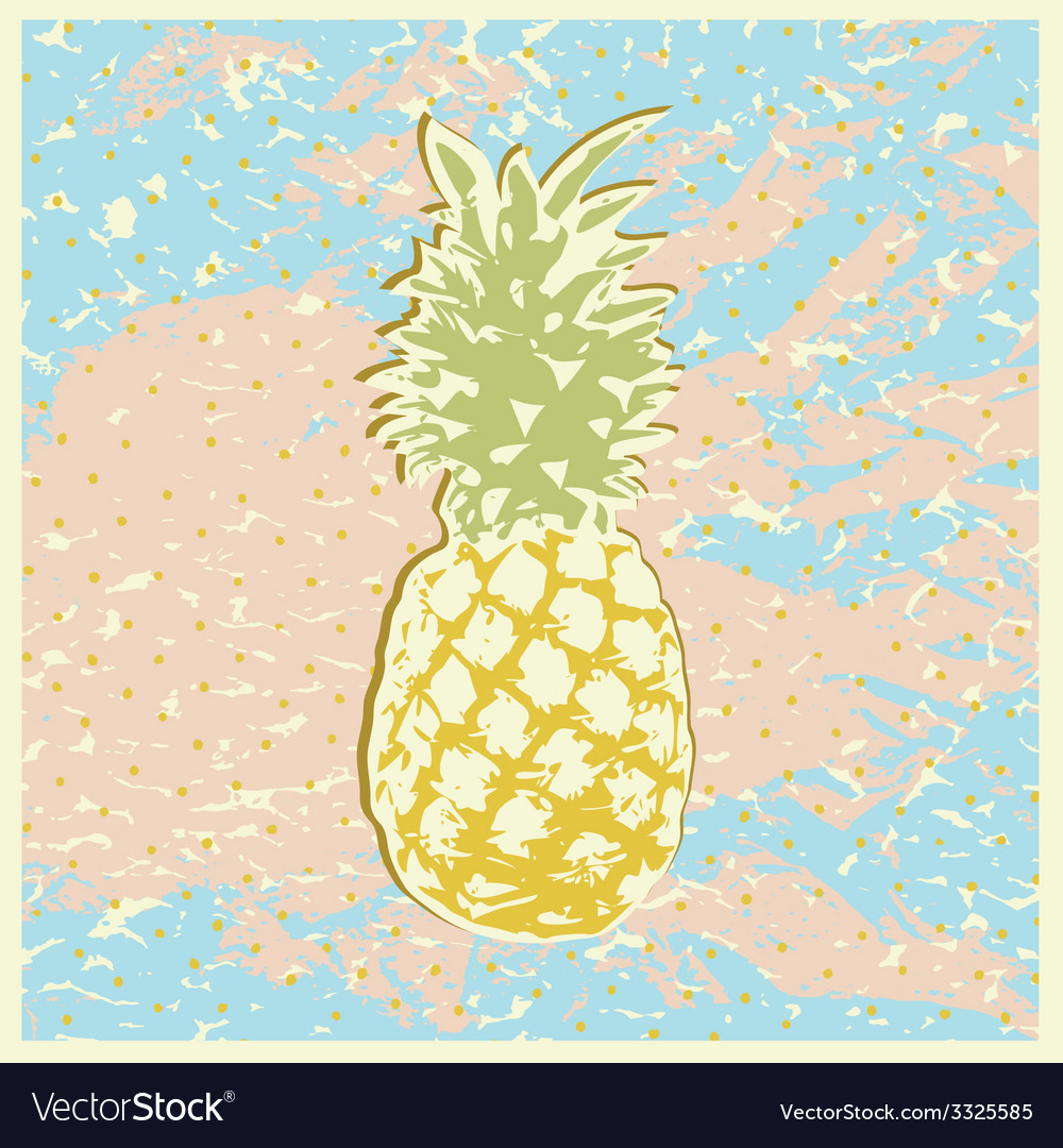 Pineapple2 vector | Price: 1 Credit (USD $1)