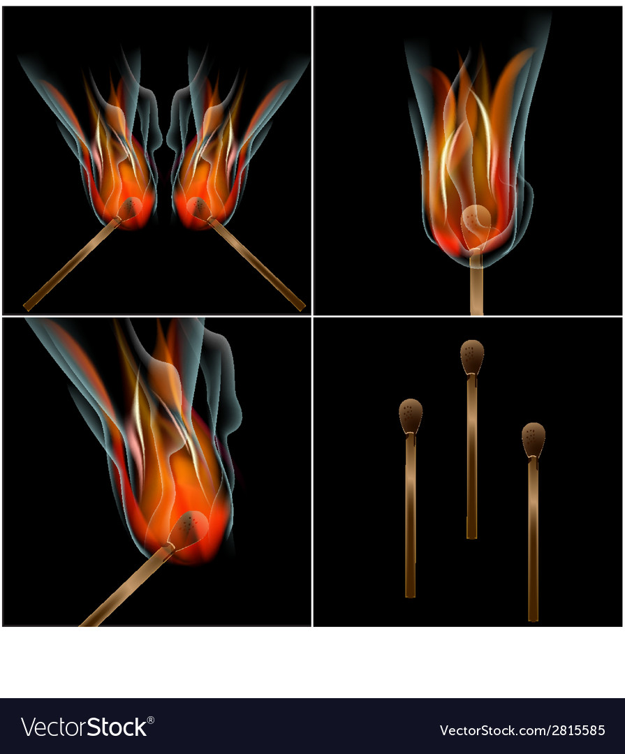 Set burn flame fire abstract background with place vector | Price: 1 Credit (USD $1)