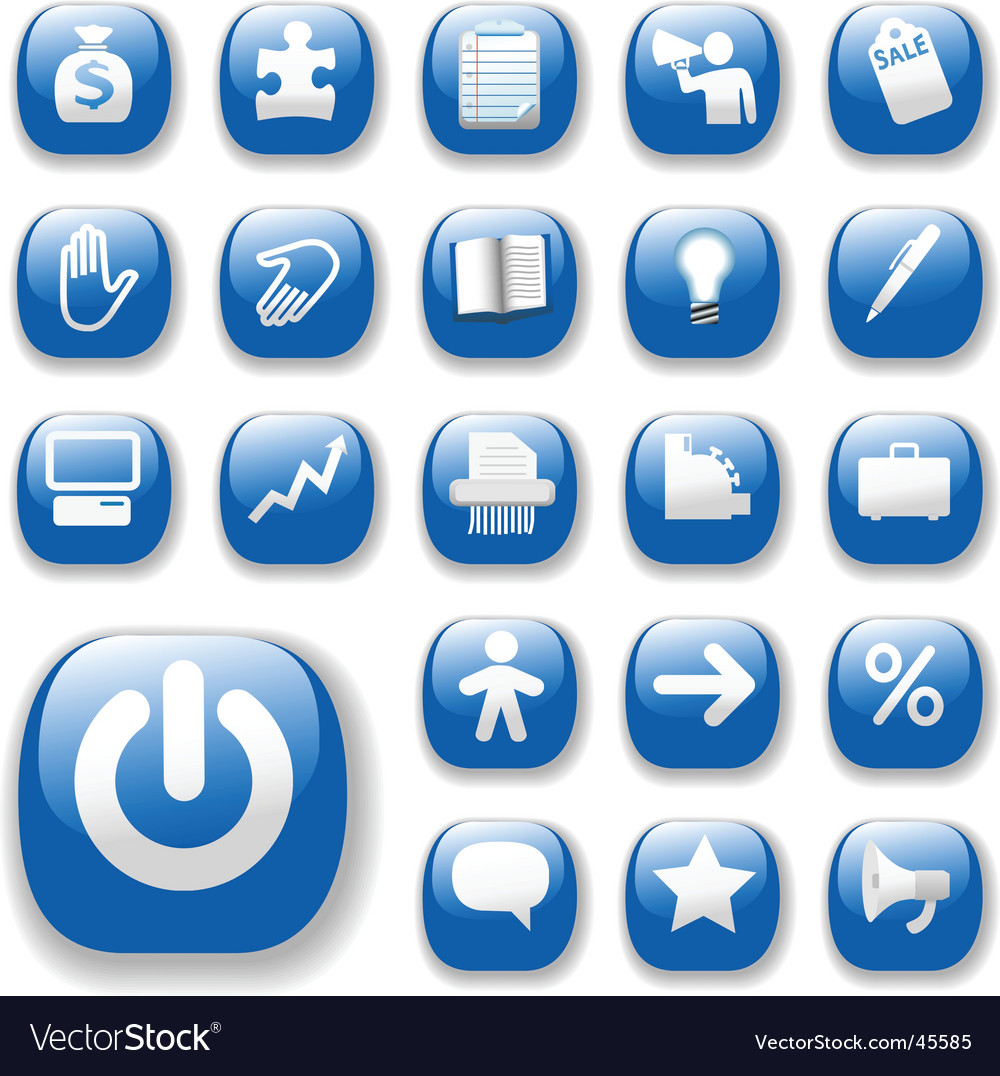 Shiny blue control button vector | Price: 1 Credit (USD $1)
