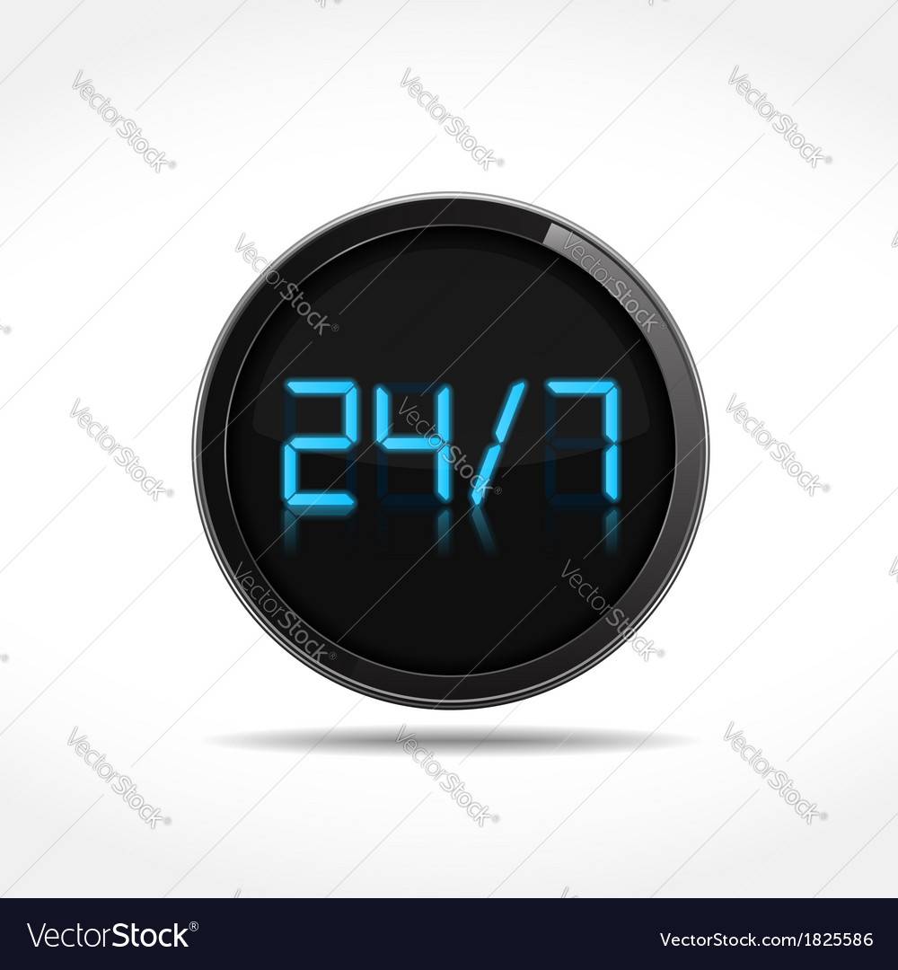24x7 icon vector | Price: 1 Credit (USD $1)
