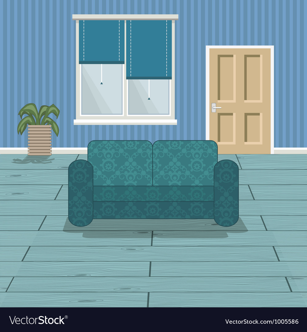 Blue room vector | Price: 1 Credit (USD $1)